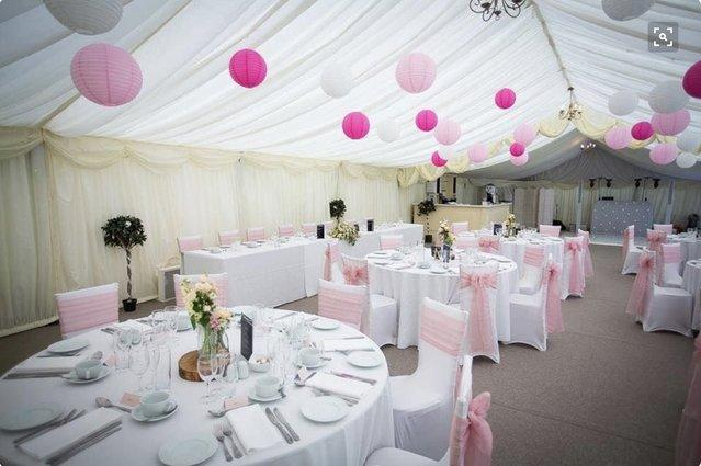 Used paper lanterns second hand wedding decorations and perfect for weddings and parties the lateens are split between 3 sizes and 3 colours there is a mixture of dark pink light pink and white the sizes junglespirit Images