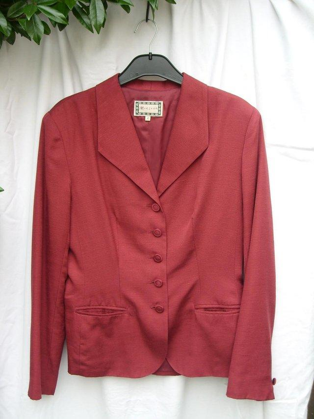 b61086771a Lovely dark red silk jacket by MONSOON. The jacket is shaped to fit with  full length sleeves
