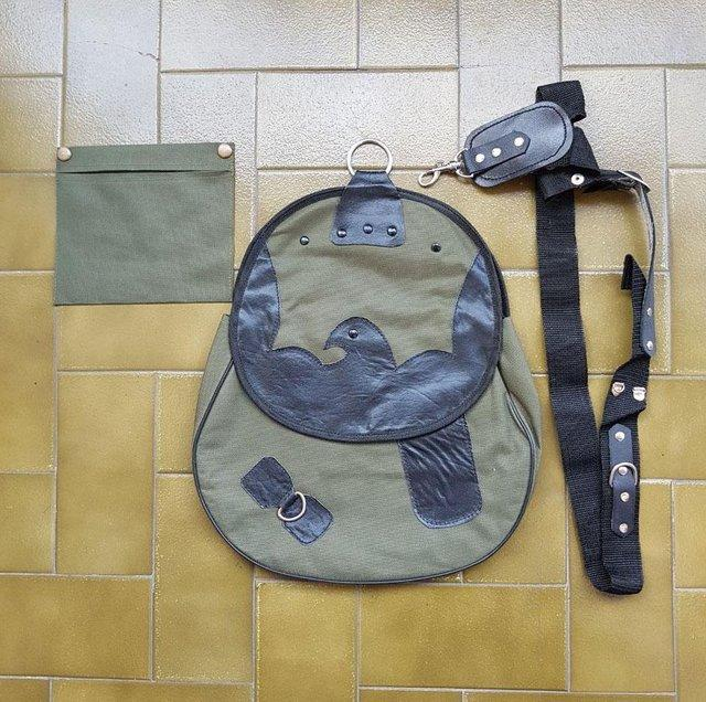 Preview of the first image of Falconry Cordura Bag, Hunting Bag with Strap.