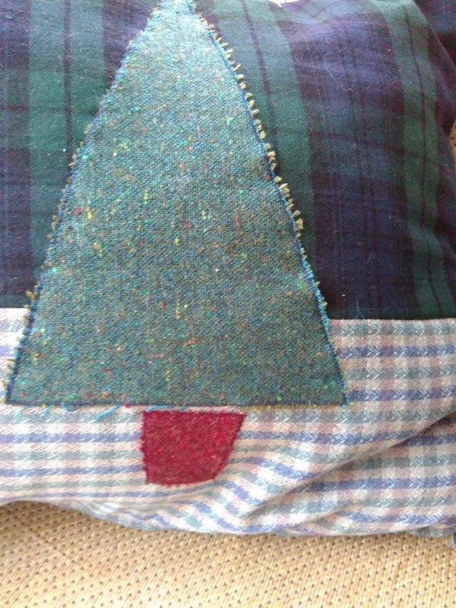 Image 3 of Pair cushions - Christmas Trees - Pure Wool