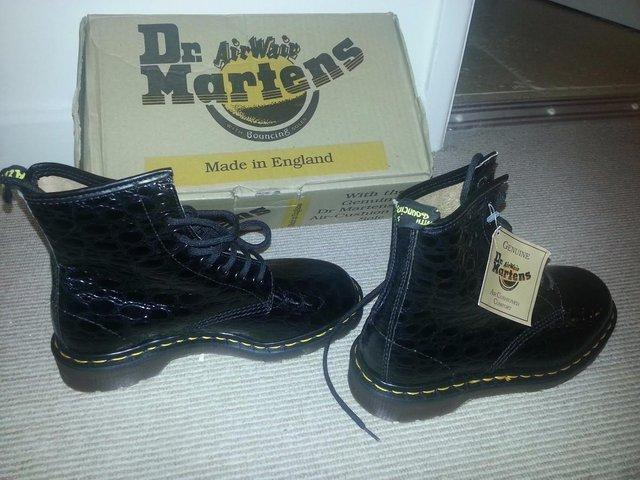 Image 3 of DR MARTENS BOOTS BLACK LEATHER NEW AND BOXED