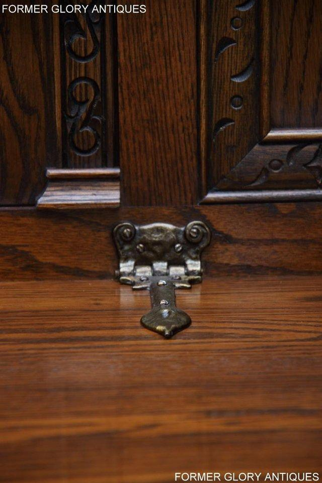 Image 4 of OLD CHARM LIGHT OAK HALL SEAT BOX SETTLE MONKS BENCH CHEST