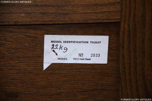 Image 7 of OLD CHARM LIGHT OAK HALL SEAT BOX SETTLE MONKS BENCH CHEST