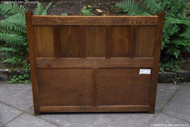 Image 13 of OLD CHARM LIGHT OAK HALL SEAT BOX SETTLE MONKS BENCH CHEST