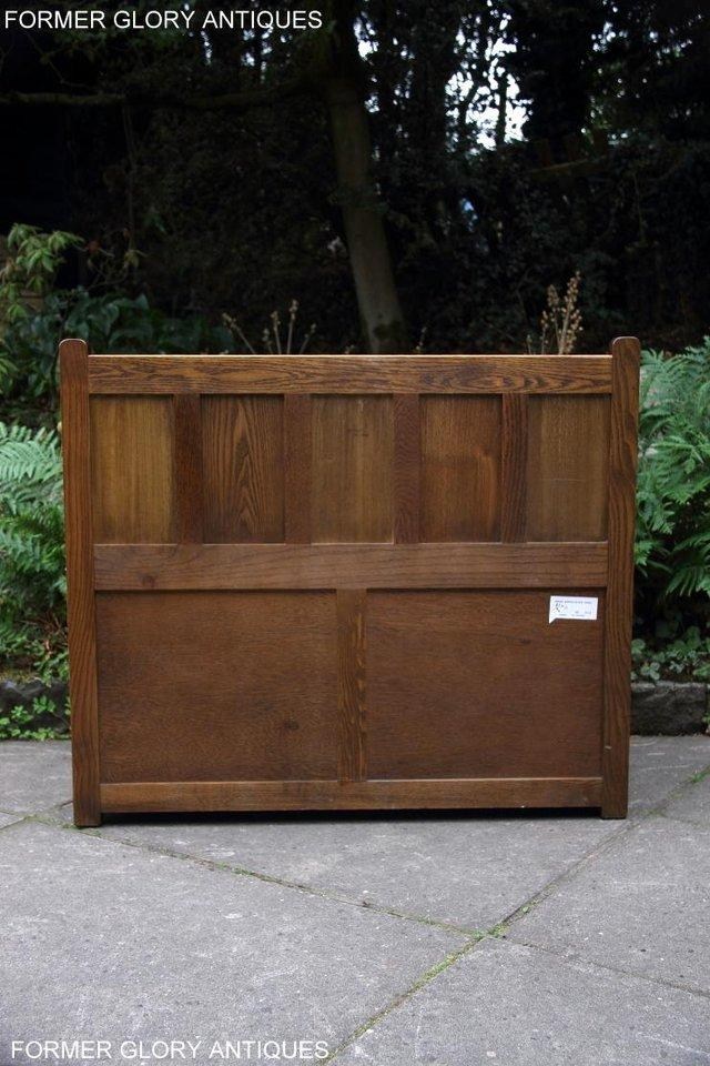 Image 23 of OLD CHARM LIGHT OAK HALL SEAT BOX SETTLE MONKS BENCH CHEST