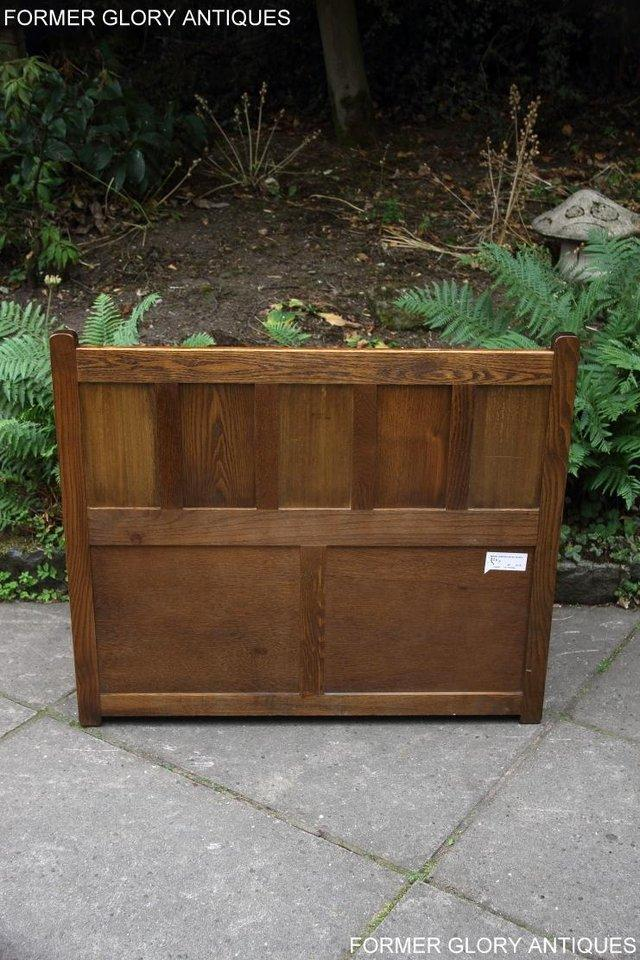 Image 44 of OLD CHARM LIGHT OAK HALL SEAT BOX SETTLE MONKS BENCH CHEST