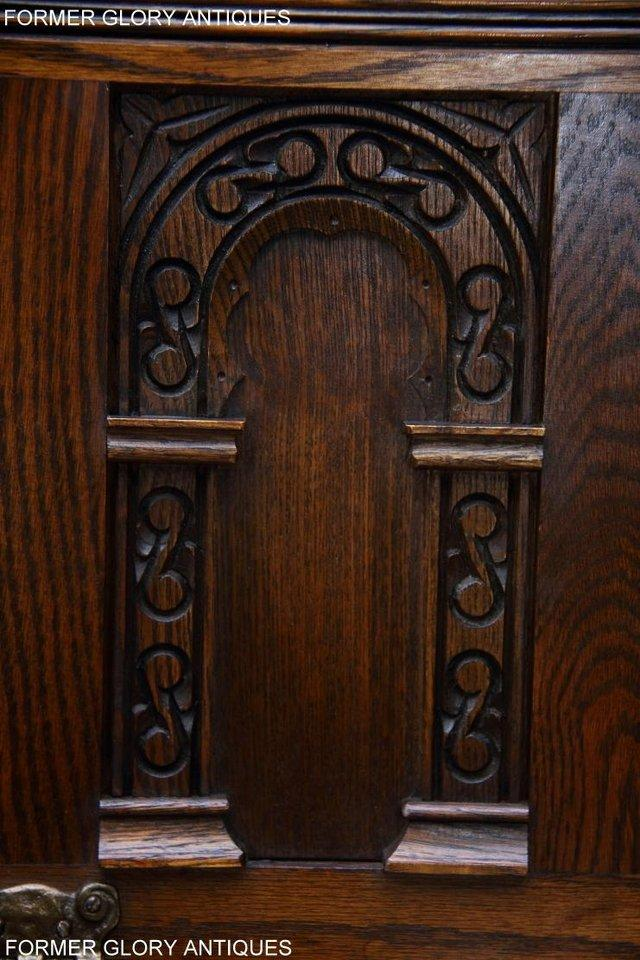 Image 50 of OLD CHARM LIGHT OAK HALL SEAT BOX SETTLE MONKS BENCH CHEST