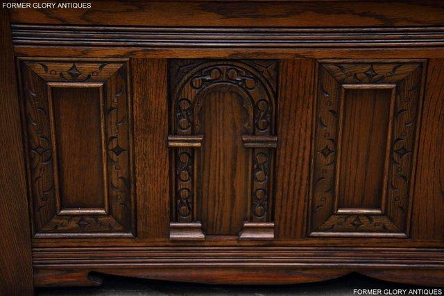 Image 53 of OLD CHARM LIGHT OAK HALL SEAT BOX SETTLE MONKS BENCH CHEST