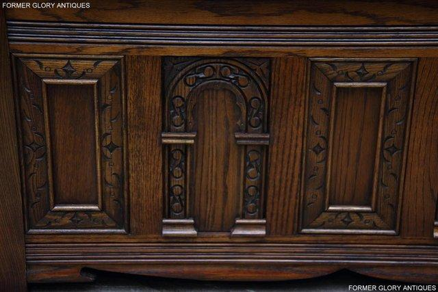 Image 65 of OLD CHARM LIGHT OAK HALL SEAT BOX SETTLE MONKS BENCH CHEST