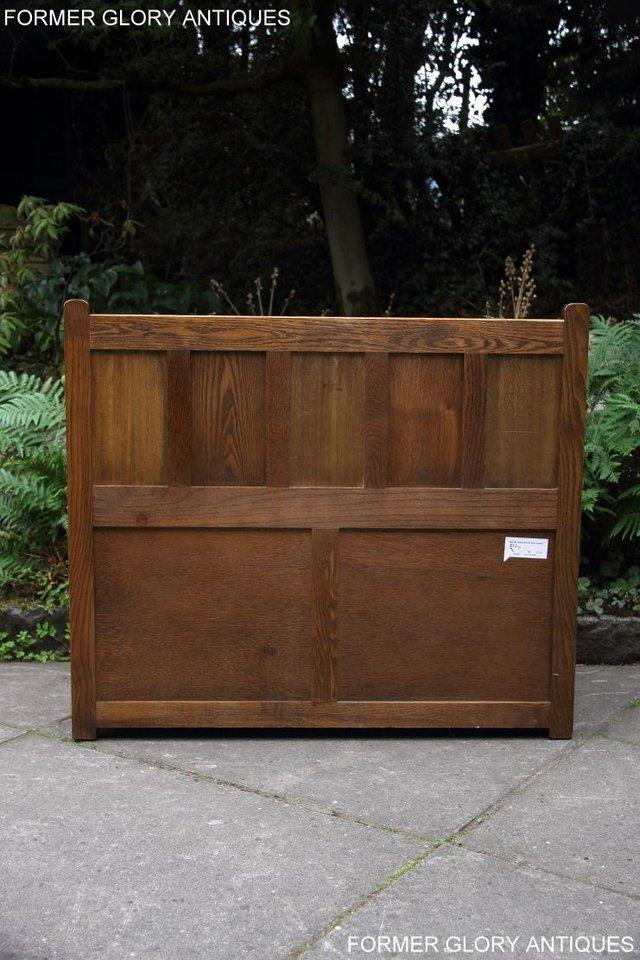 Image 67 of OLD CHARM LIGHT OAK HALL SEAT BOX SETTLE MONKS BENCH CHEST