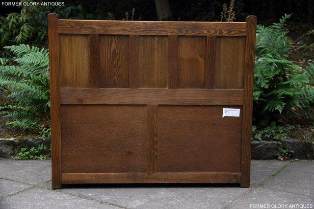 Image 69 of OLD CHARM LIGHT OAK HALL SEAT BOX SETTLE MONKS BENCH CHEST