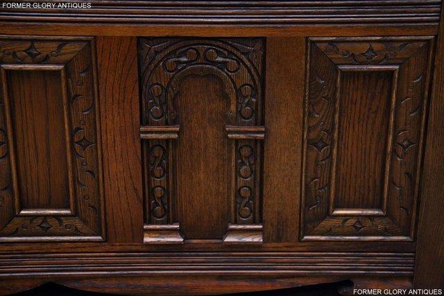 Image 83 of OLD CHARM LIGHT OAK HALL SEAT BOX SETTLE MONKS BENCH CHEST