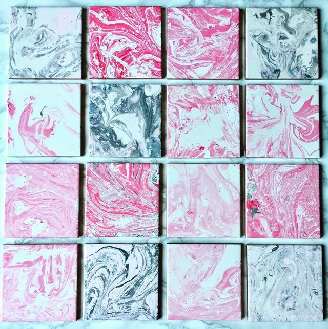 Image 2 of #PinkCycled Tile Coasters.
