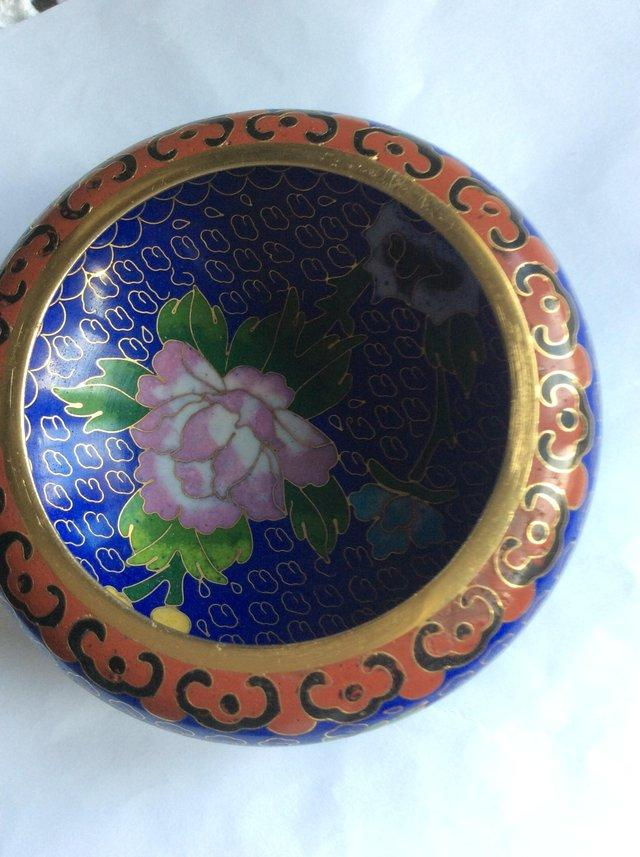 Preview of the first image of Chinese Cloisonne bowl.