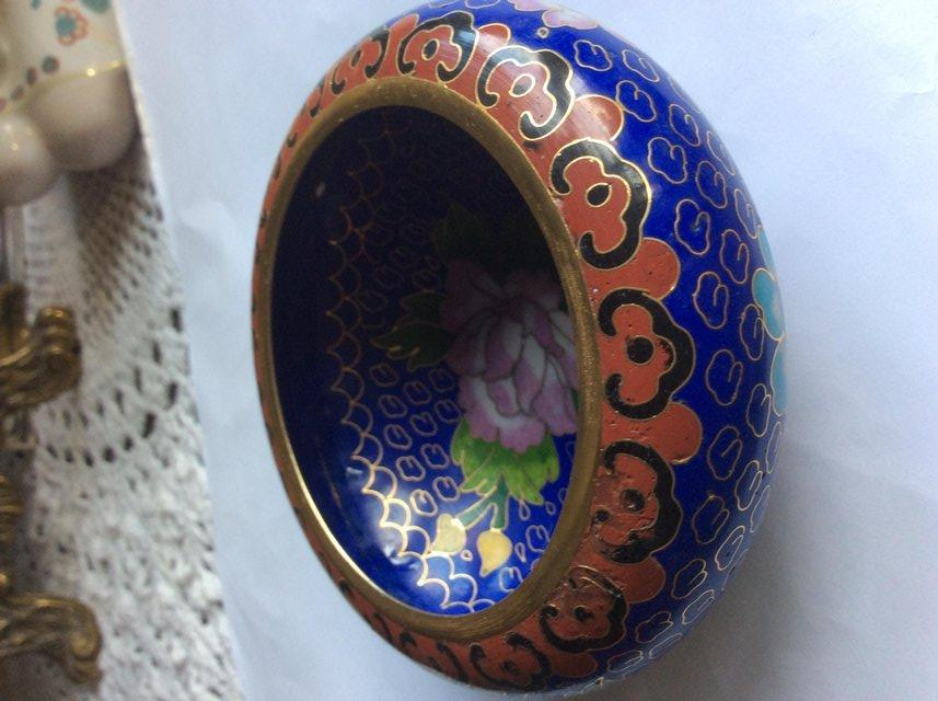 Image 3 of Chinese Cloisonne bowl