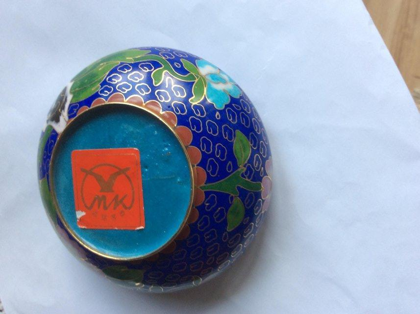 Image 2 of Chinese Cloisonne bowl