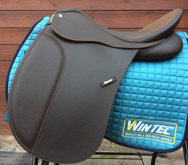 """Preview of the first image of 17.5"""" Wintec 250 / 500 Dressage Brown Adjustable RRP 495 now."""