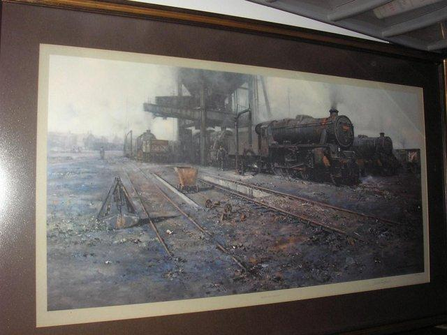 Preview of the first image of David Shepherd limited edition print TRAINS!!.