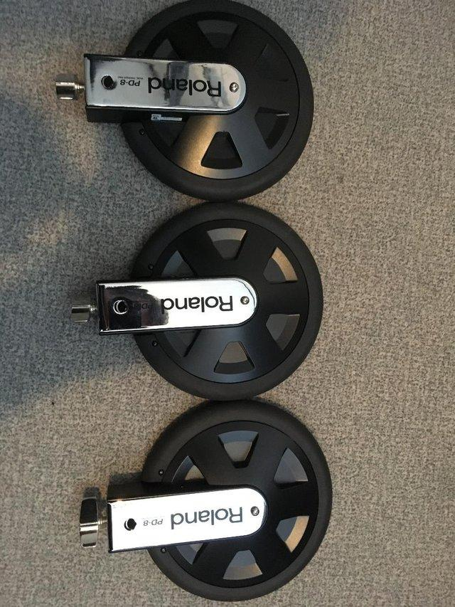 Image 2 of Roland PD-8 drum pads x3