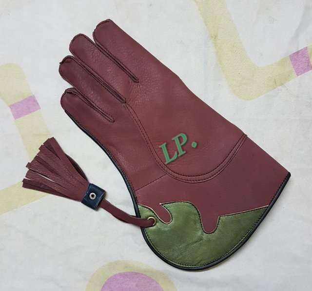 Image 2 of New Cow-Hide Leather (2 Layer) Double Skinned Falconry Glove