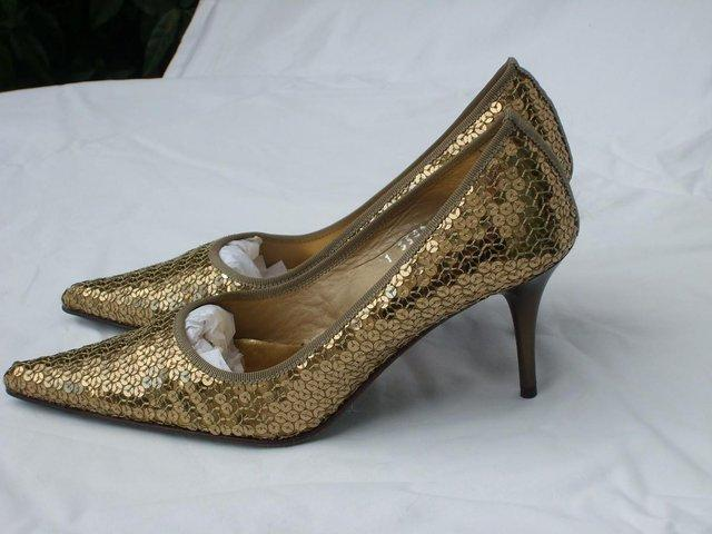 001faaed8b7f JAIME MASCARO Gold Sequin Shoes – Size 3/36 NEW! For Sale in Wimbledon,  London   Preloved
