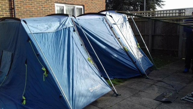 outwell colorado 5 tent good sturdy tent 2 bedrooms or petition can be removed for 1 large bedroom groundsheet built in on bedroom pods ground sheet for ... & 3 pod tents - Local Classifieds Buy and Sell in the UK and ...