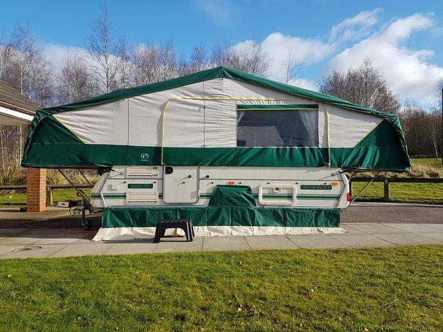 CONWAY FOLDING CAMPER CALL TEXT OR EMAIL ME I OFFER GOOD PRICES TRAVEL TO YOU AND PAY CASH ON THE DAY CAN PUT UP FOLD AWAY FOR INSPECTION