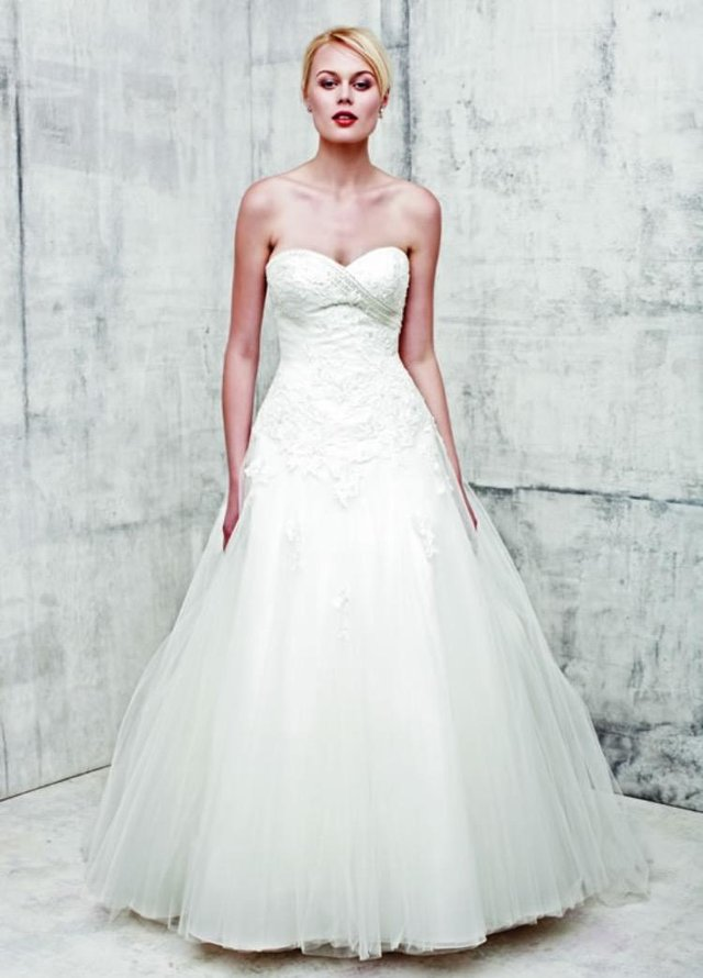 A Fairytale Sweetheart Neckline Benjamin Roberts Wedding Dress Embroidered Bodice With Subtle Sparkle And Full Floaty Tulle Skirt