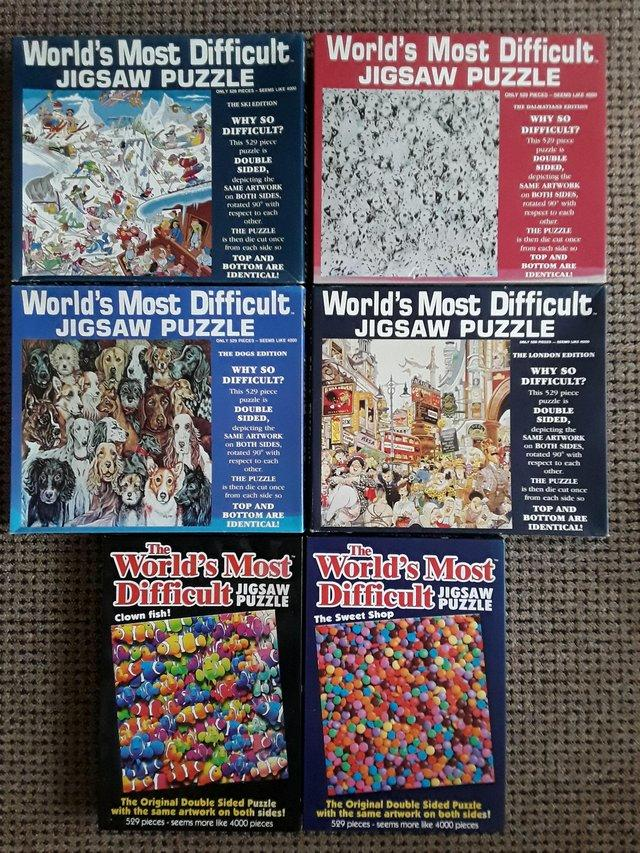 6 x world s most difficult jigsaw puzzles for sale in skelton