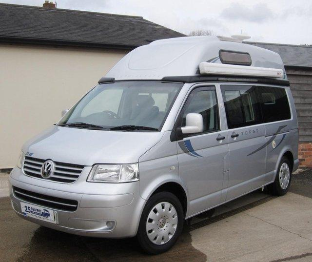 b607c48625 SORRY NOW SOLD – GOT A SIMILAR CAMPER FOR SALE  – PLEASE CALL FOR DETAILS  OF HOW WE CAN HELP SELL YOURS. 2006 (56) VW T5 Autosleeper Topaz This VW T5  ...