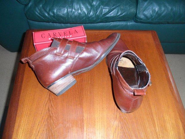 """Image 3 of """"Ravel"""" Italian brown leather ladies ankle boot"""