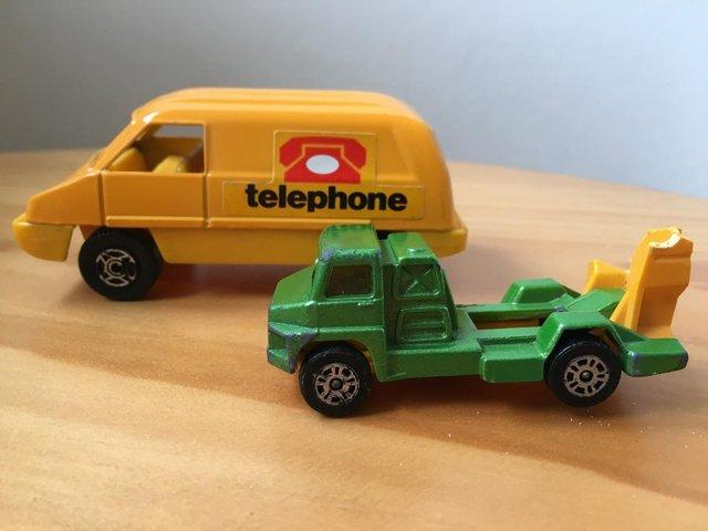 Preview of the first image of Vintage Corgi Cubs telephone van & Juniors cement mixer.