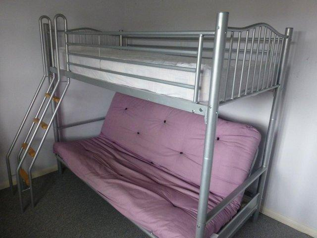 alaska futon bunkbed 6 u0027 x 3 u0027 3 4 beds   second hand beds and bedding for sale in the uk and      rh   preloved co uk