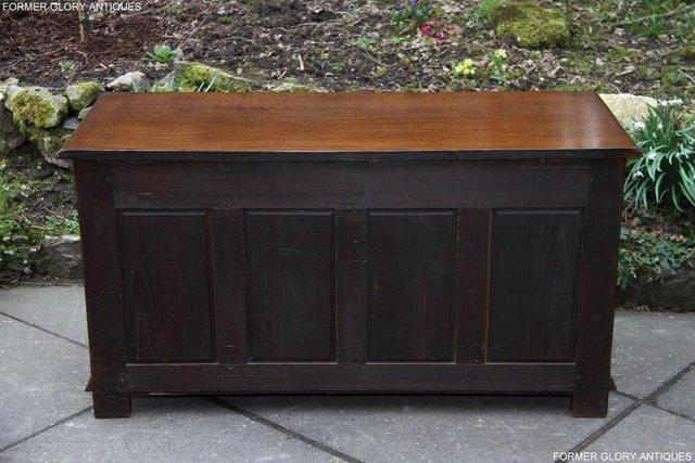Image 5 of TITCHMARSH AND GOODWIN CARVED OAK BLANKET CHEST BOX COFFER