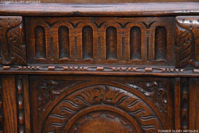 Image 7 of TITCHMARSH AND GOODWIN CARVED OAK BLANKET CHEST BOX COFFER