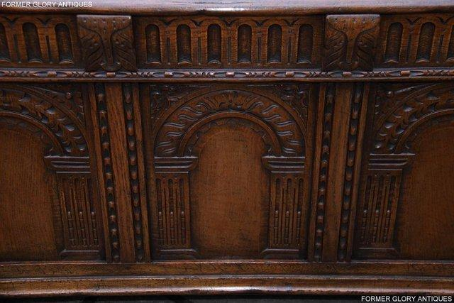 Image 12 of TITCHMARSH AND GOODWIN CARVED OAK BLANKET CHEST BOX COFFER