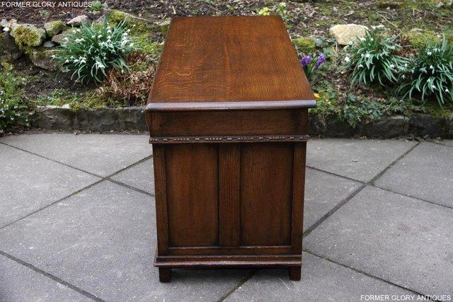 Image 13 of TITCHMARSH AND GOODWIN CARVED OAK BLANKET CHEST BOX COFFER