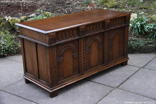 Image 15 of TITCHMARSH AND GOODWIN CARVED OAK BLANKET CHEST BOX COFFER