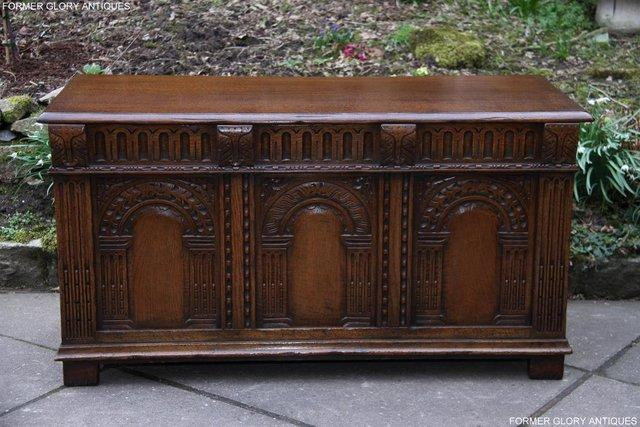 Image 18 of TITCHMARSH AND GOODWIN CARVED OAK BLANKET CHEST BOX COFFER