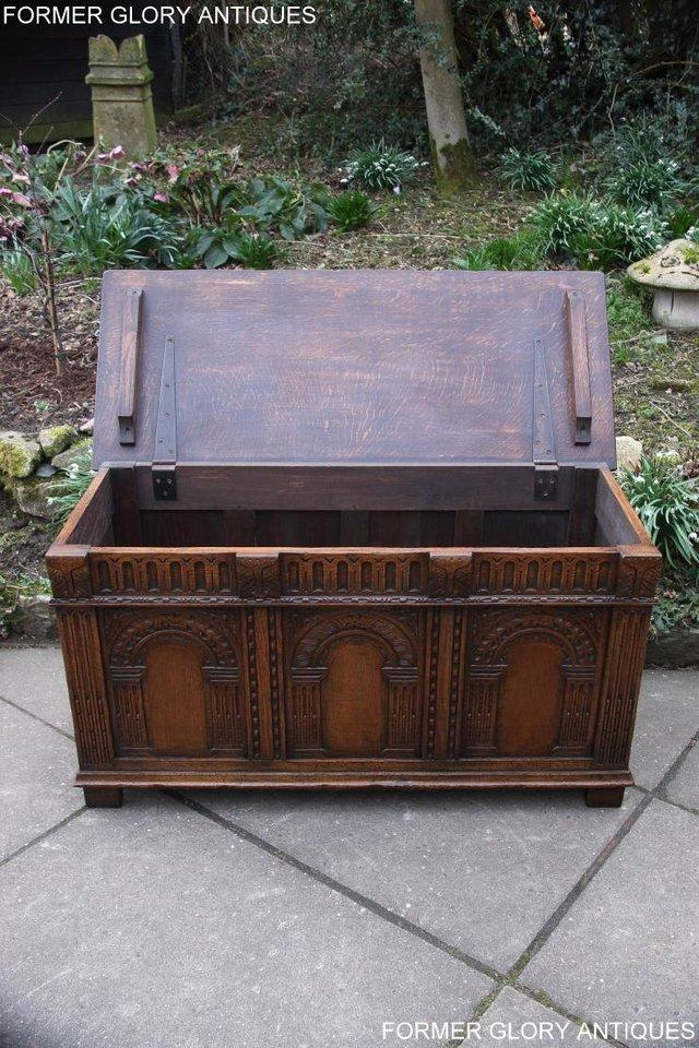 Image 22 of TITCHMARSH AND GOODWIN CARVED OAK BLANKET CHEST BOX COFFER