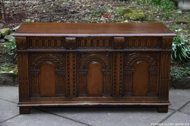 Image 24 of TITCHMARSH AND GOODWIN CARVED OAK BLANKET CHEST BOX COFFER