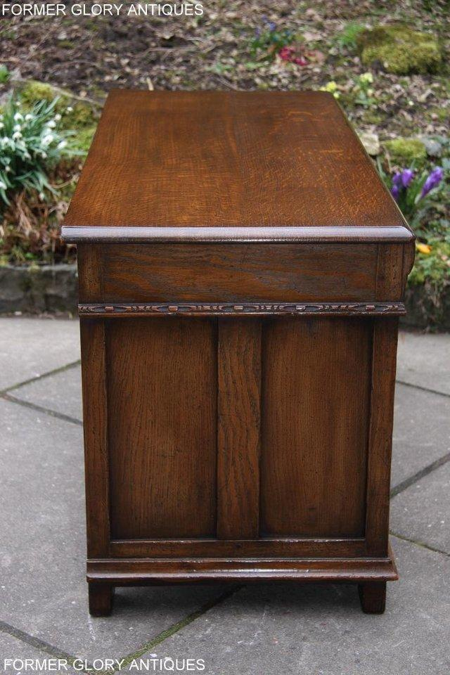 Image 25 of TITCHMARSH AND GOODWIN CARVED OAK BLANKET CHEST BOX COFFER