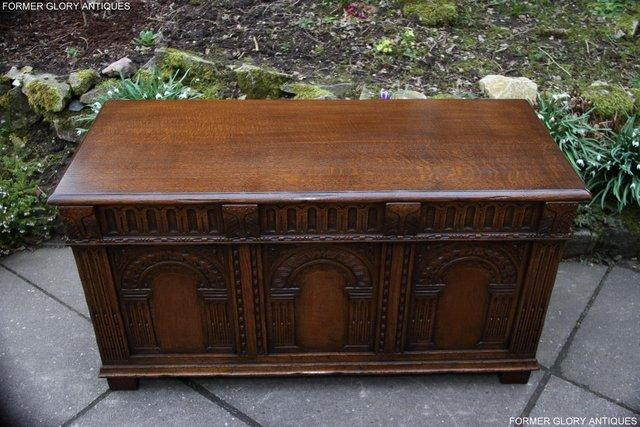 Image 26 of TITCHMARSH AND GOODWIN CARVED OAK BLANKET CHEST BOX COFFER