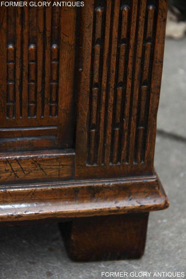 Image 27 of TITCHMARSH AND GOODWIN CARVED OAK BLANKET CHEST BOX COFFER