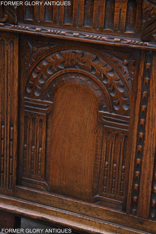 Image 29 of TITCHMARSH AND GOODWIN CARVED OAK BLANKET CHEST BOX COFFER