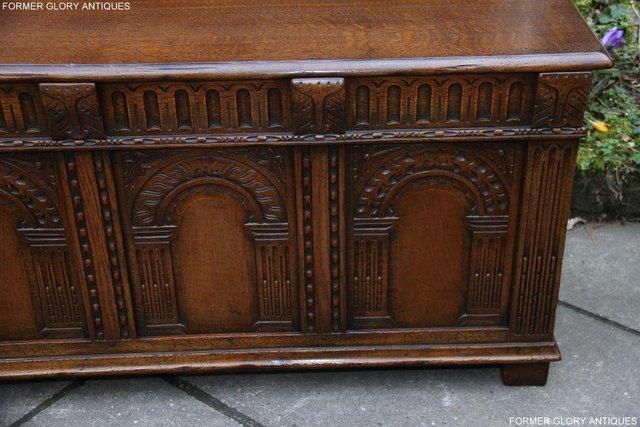 Image 30 of TITCHMARSH AND GOODWIN CARVED OAK BLANKET CHEST BOX COFFER