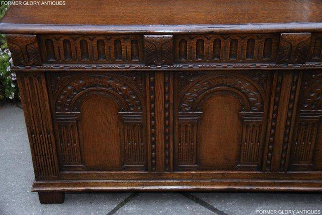 Image 31 of TITCHMARSH AND GOODWIN CARVED OAK BLANKET CHEST BOX COFFER