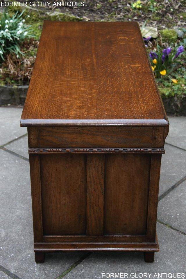 Image 32 of TITCHMARSH AND GOODWIN CARVED OAK BLANKET CHEST BOX COFFER