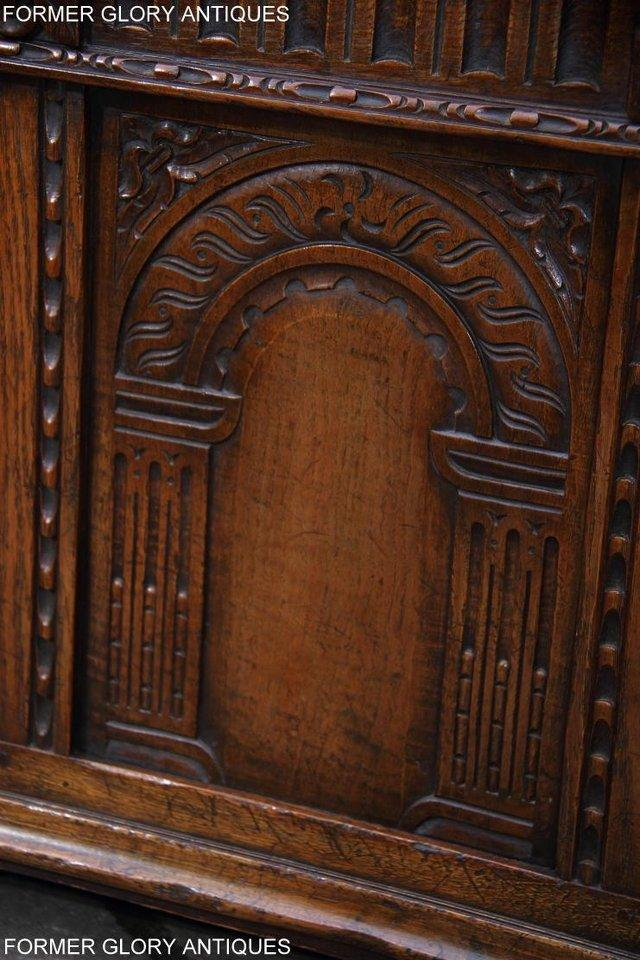 Image 43 of TITCHMARSH AND GOODWIN CARVED OAK BLANKET CHEST BOX COFFER