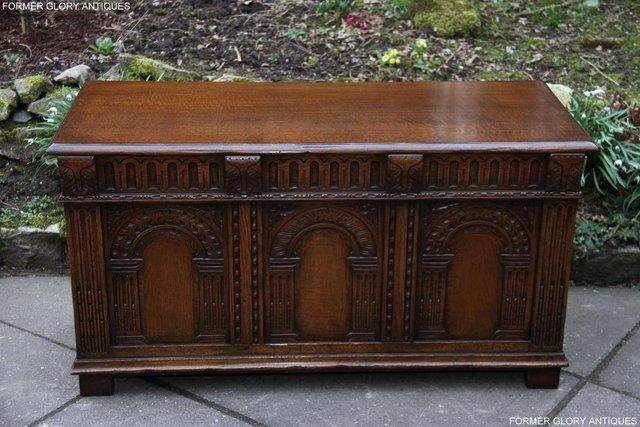 Image 44 of TITCHMARSH AND GOODWIN CARVED OAK BLANKET CHEST BOX COFFER